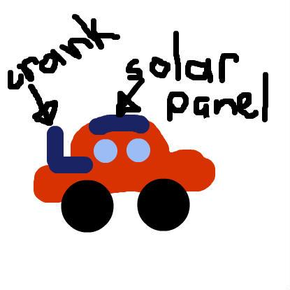 this is a toy car that uses solar power energy to make it work when